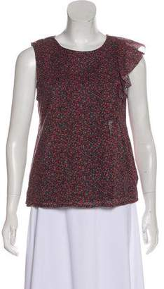 Band Of Outsiders Sleeveless Silk Top