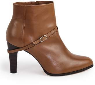 Reiss OPHELIA BUCKLE DETAIL ANKLE BOOTS Tan