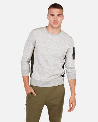 Express Exp Nyc Soft Knit Camo Long Sleeve Tee