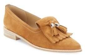Stuart Weitzman Verve Leather Tassle Loafers