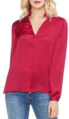 Vince Camuto Ruched Button-Down Blouse