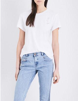 Diesel Flamingo-print cotton-jersey T-shirt $42 thestylecure.com