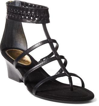 Ralph Lauren Meira Vachetta Wedge Sandal $79 thestylecure.com
