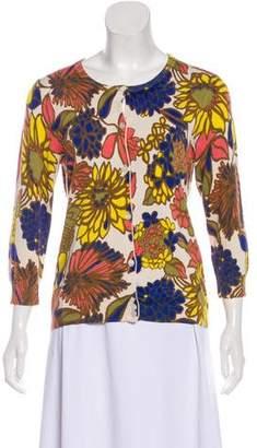 Trina Turk Floral Knit Cardigan