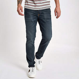 River Island Dark blue slim fit Dylan jeans