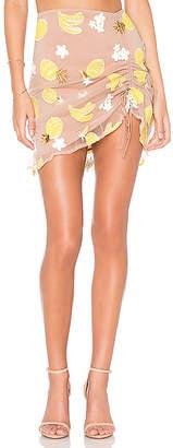 For Love & Lemons Fruitpunch Shirred Mini Skirt