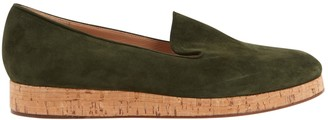 Gianvito Rossi Green Suede Flats