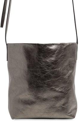 Ann Demeulemeester Metallic Leather Bucket Shoulder Bag