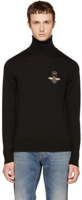 Dolce & Gabbana Black Bee Turtleneck