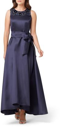 Tahari Embellished Mikado Gown