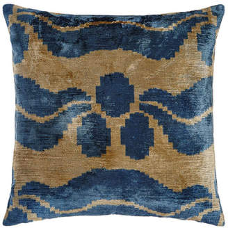 "Blue Ivy Silk Velvet Pillow, 20""Sq."