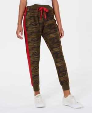 Planet Gold Juniors' Printed Side-Stripe Jogger Pants