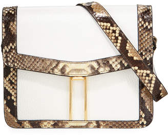 Hayward Mini H Python Crossbody Bag