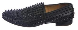 Christian Louboutin Leather Spike Smoking Slippers