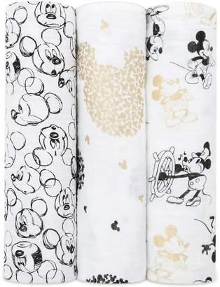 Aden Anais Aden & Anais Mickey Mouse Muslin Swaddles (Set of 3)