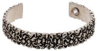 Gucci silver Lion Mane crystal metal cuff