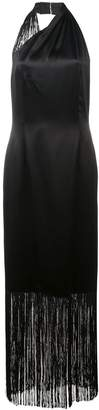 Jill Stuart halter-neck fringed maxi dress