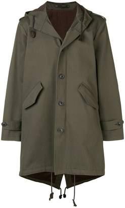 Lardini hooded parka coat