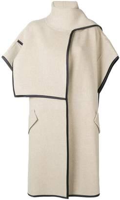 Victoria Beckham Victoria cowl-neck short sleeve coat