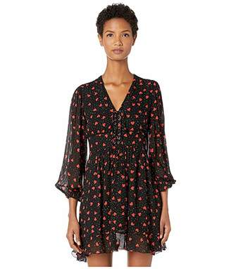 The Kooples Button Down Dress in a Heart Print