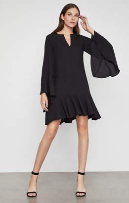 BCBGMAXAZRIA Flutter Sleeve Shift Dress