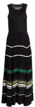 Proenza Schouler Women's Sleeveless Rib-Knit Maxi Dress - White Multi - Size XS
