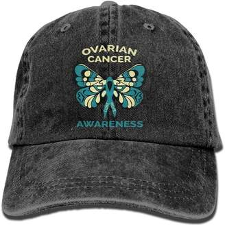 at Amazon Canada · DIYoDGG Sports Denim Cap Ovarian Cancer Awareness Women  Golf Hats Washed Denim Cap c1e83f0ecd8d