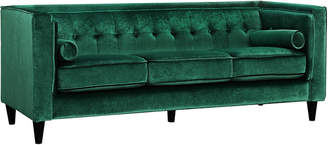 Verlaine Taylor Green Velvet Sofa