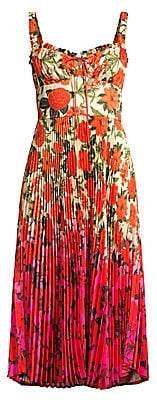 DELFI Collective Women's Amora Floral Ombré Bustier Dress