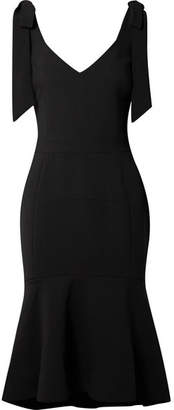 Rebecca Vallance Domingo Crepe Midi Dress - Black