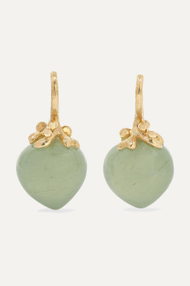 OLE LYNGGAARD COPENHAGEN Dew Drops 18-karat Gold Aquamarine Earrings