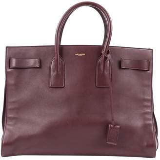 Saint Laurent Sac de Jour Burgundy Leather Handbag