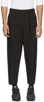 Attachment Black Belted Wide-Leg Trousers