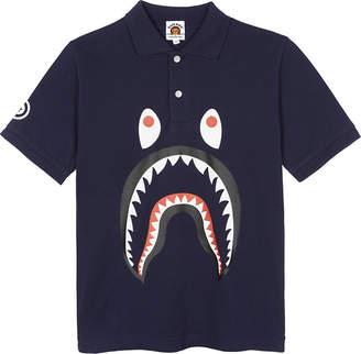 A Bathing Ape Shark piqué cotton polo shirt 4-8 years