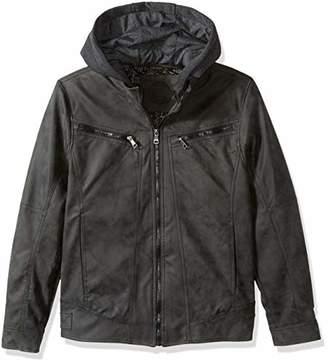 Urban Republic Mens Pu Suede Faux Leather Jacket