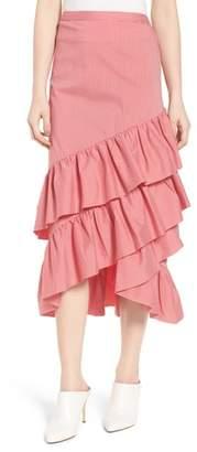 Chelsea28 Gingham Ruffle Skirt