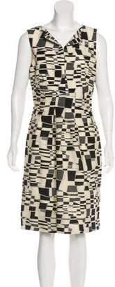 Lela Rose Abstract Patterned Sheath Dress