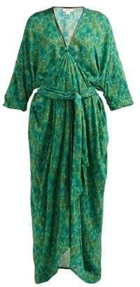 Chufy - Tarabel Geometric Print V Neck Dress - Womens - Green
