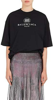 Balenciaga Women's Logo-Print Cotton T-Shirt