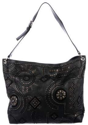 Oscar de la Renta Embellished Leather Tote