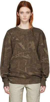 YEEZY Brown Camo Thermal Pullover $275 thestylecure.com