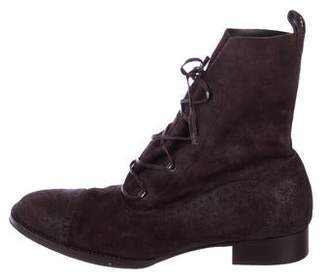 Henry Beguelin Brogue Nubuck Ankle Boots