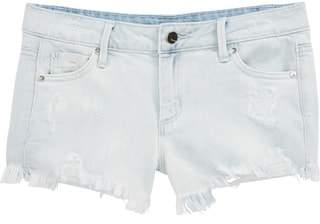 Tractr Destructed Frayed Denim Shorts