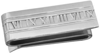 Tiffany & Co. Sterling Silver Atlas Stencil Roman Numerals Double Money Clip