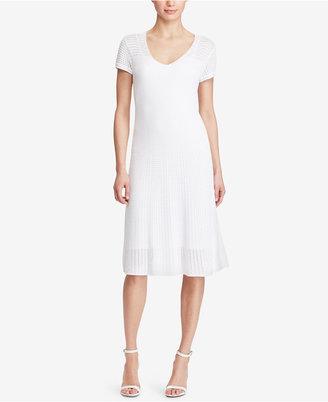 Lauren Ralph Lauren Pointelle-Knit Sweater Dress $175 thestylecure.com