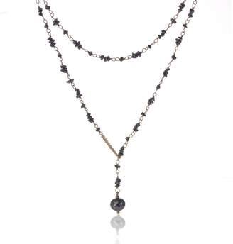 Black Diamond Love Is - Raw Necklace