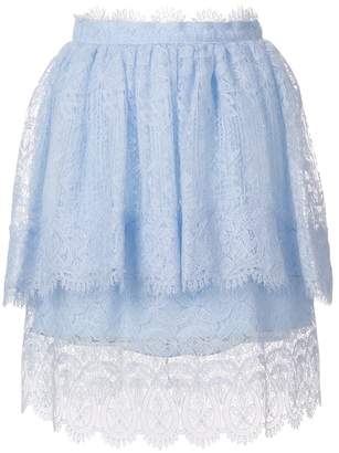 Ermanno Scervino lace detail frill skirt