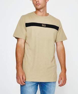 RVCA Distorted Short Sleeve T-shirt Goldrush