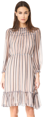 Derek Lam 10 Crosby Bell Sleeve Ruffled Dress $595 thestylecure.com