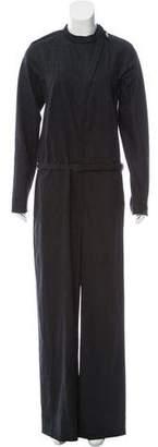 Bottega Veneta Wool-Blend Long Sleeve Jumpsuit